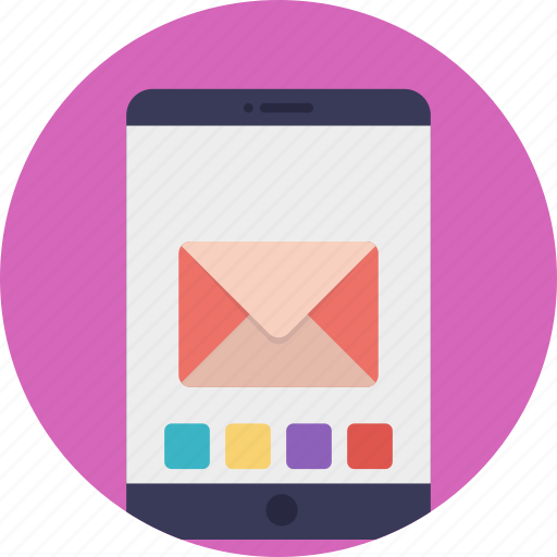 email, inbox, new message, received message, received sms icon
