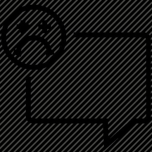 chat, communication, message, negative, speech bubble icon