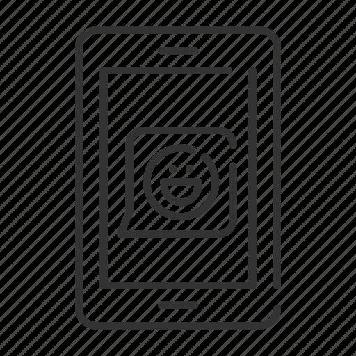 emoticon, message, phone, smart icon