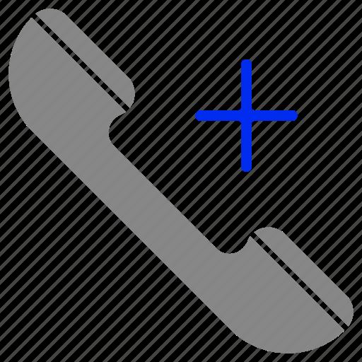 add, call, communication, emergency, phone, telephone icon