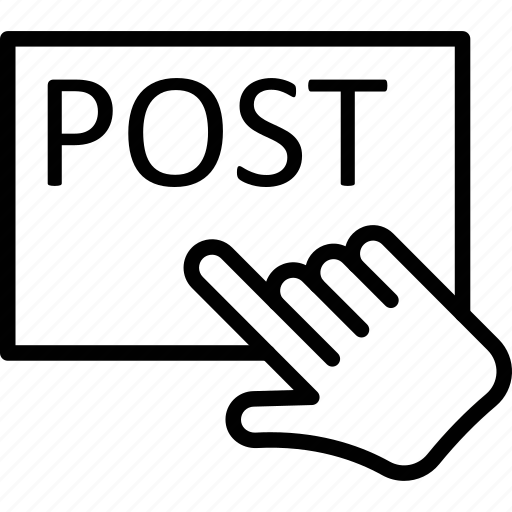 pointing, post, posting, reading icon