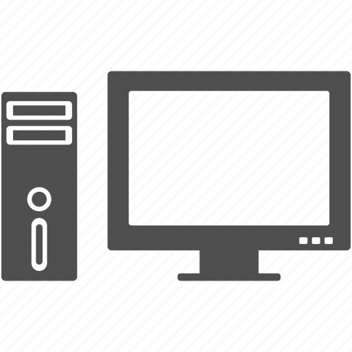 computer, desktop, monitor, pc, system icon