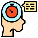 chat, clock, talk, time, watch icon