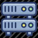 database, datacenter, dataserver, storage device, system storage icon