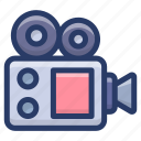 camera, cinematography, photography equipment, photoshoot tool, video camera, video production, videography icon