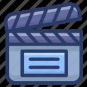 clapper board, clapper slate, clapper stick, director object, film clapboard, movie board, slate board icon