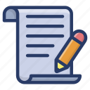 agreement, compose, content, contract, document, draft, writing icon