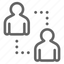 chat, communication, connection, interaction, message, network, talk icon