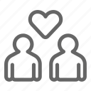 bubble, chat, communication, couple, love, message, valentine icon