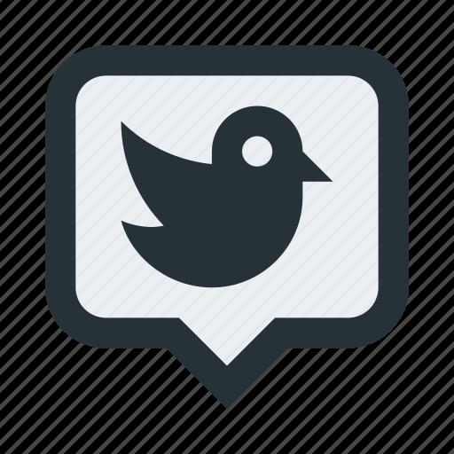 bird, chat, conversation, message, tweet, twitter icon