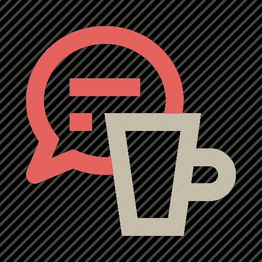 breakfast, chat, coffee, communication, conversation, small talk, talk icon