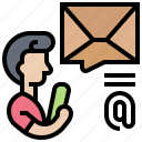 contact, email, letter, notify, post icon