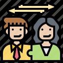 communication, coworker, dealing, exchange, teamwork icon
