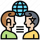 communication, international, interpreter, language, speak