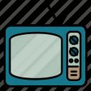 tv, television, retro, electronics