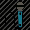 information, loud, mic, microphone