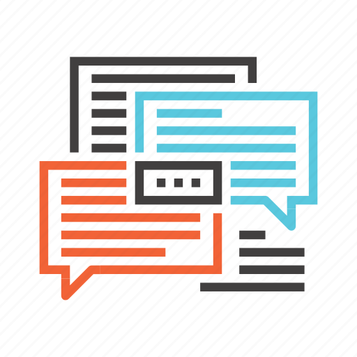 chat, communication, connection, conversation, interaction, message icon