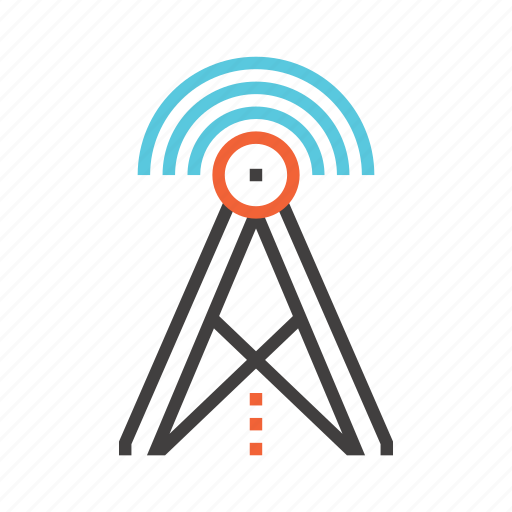 antenna, communication, connection, internet, wifi, wireless icon