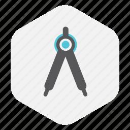 compass, design, geometry, graphic, tool icon