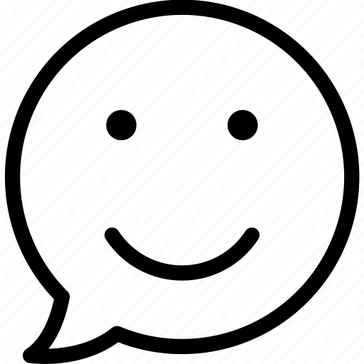 bubble, chat, communication, emoji, media, smile, smiley icon