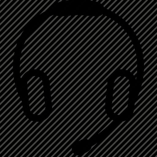 communication, earphone, headphone, media, music, speaker, support icon
