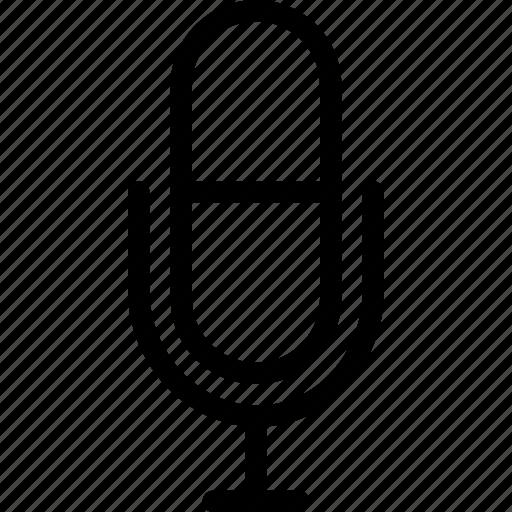 communication, media, mic, microphone, phone, speaker, web icon