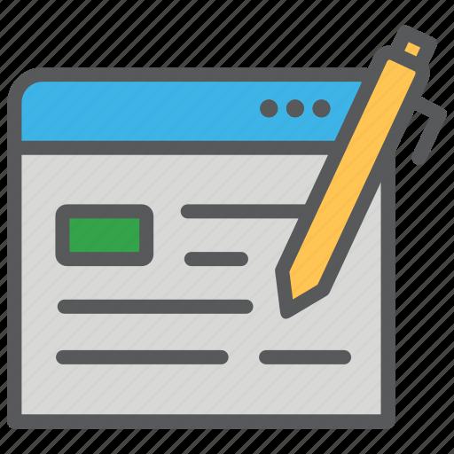 blog, blogging, communication, media, writing icon