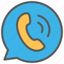 call, communication, media, message icon