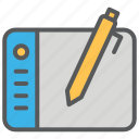 communication, design, drawing, media, pad icon