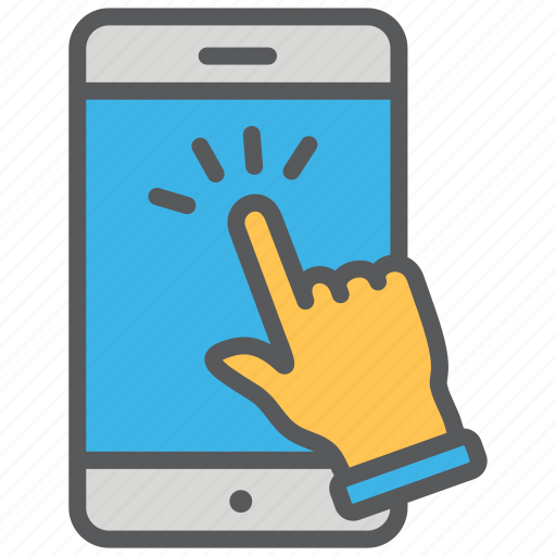 communication, media, smartphone, touch, touchscreen icon