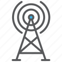 communication, media, signal, tower icon