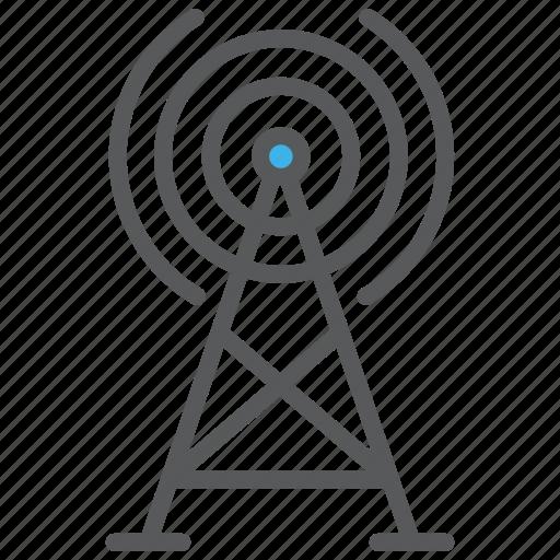 communication, media, signal, tower icon