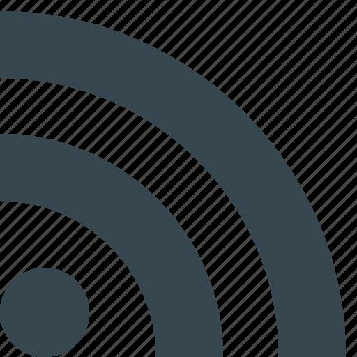 communication, internet, link, network, online, rss, web icon