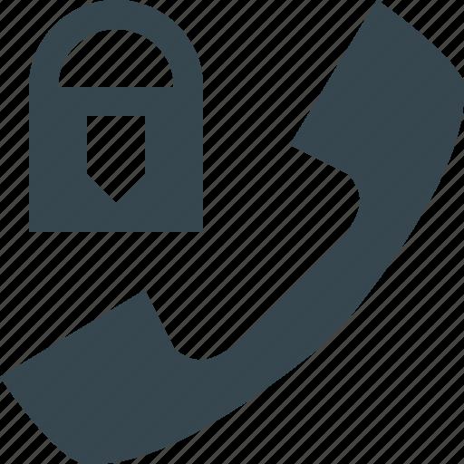 block, block call, handset, lock, locked, phone, private icon