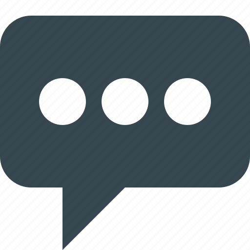 bubble, chat, comments, dots, message, text, three dots icon