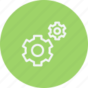 construction, gears, options, repair, settings, tool icon