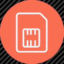 card, communication, network, phone, sim, smartphone, telephone icon