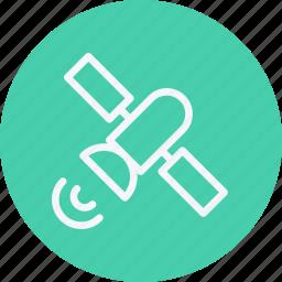 communication, connection, internet, media, network, satellite, web icon