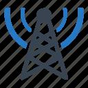 communication, radio, signal, tower icon