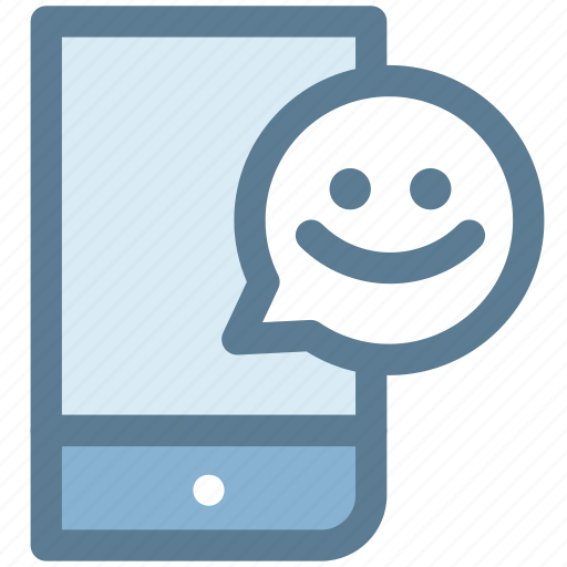 chatting, communication, mobile, smartphone, smile, video call, video chat icon
