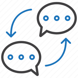 bubbles, communication, interaction icon
