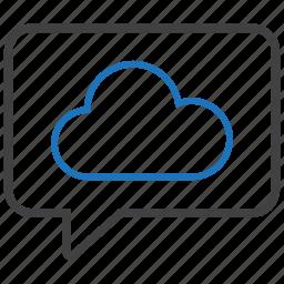 bubble, cloud, storage, weather icon