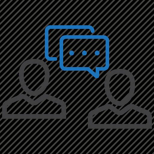 conversation, dialogue, discuss, talk icon