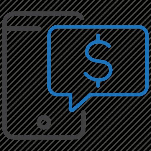 expense, money, phone, smartphone icon