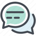 chat, chatting, comment, communication, conversation, speech bubble, talking icon