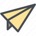 airplane, communication, email, email sending, paper airplane, send icon
