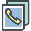book, communication, contact, numbers, phone, phone book icon