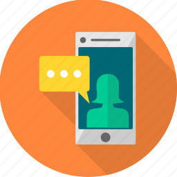 chat, chatting, communication, conversation, message, mobile, sms icon