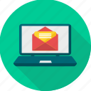 computer, email, envelope, inbox, laptop, letter, message icon
