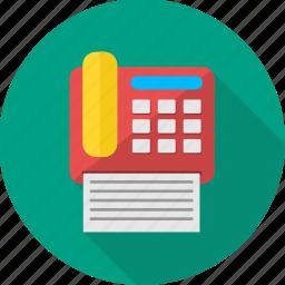 business, facsimile, facsimile machine, fax, fax machine, office, telefax icon